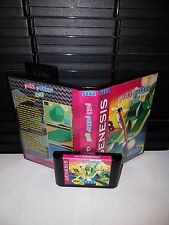 Putt Putter Golf Miniature Golf Game for Sega Genesis! Cart & Box