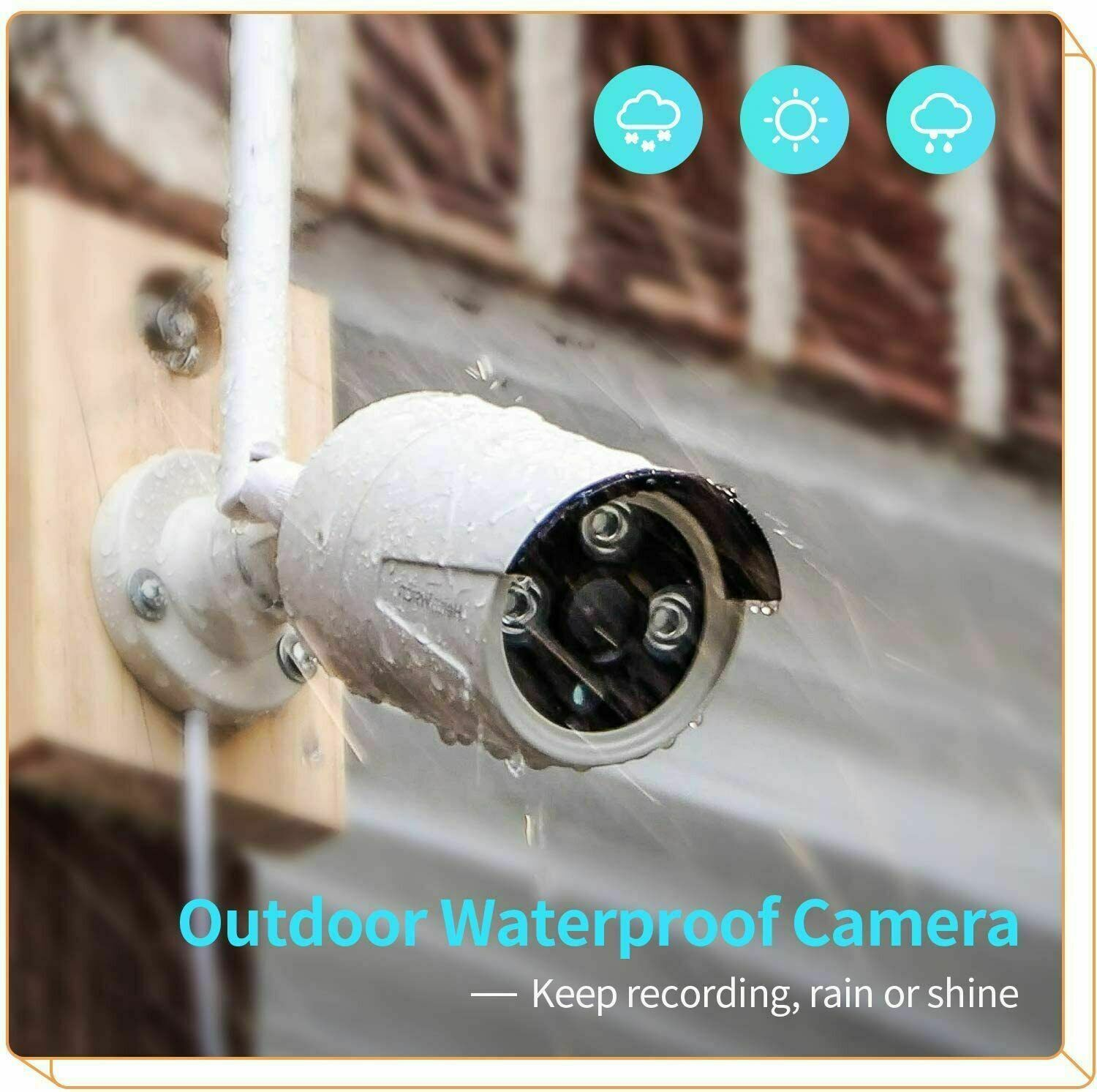 Outdoor 1080P IP Camera Wireless System 8CH Home Security Kit