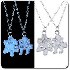 Set Leuchtender 2 Anhänger Ketten Puzzle Halskette Partner Best Freundschaft