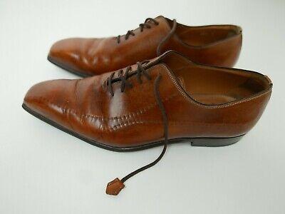 Borgioli Cognac Bench Made Shoes Uk 7 Eu 41 Designer Rtp £495 Finest Quality üBerlegene Materialien
