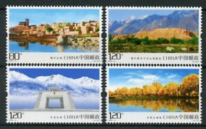 China-2018-MNH-Kashgar-Scenery-4v-Set-Landscapes-Trees-Architecture-Stamps