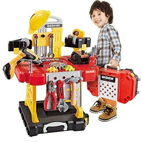 Kids Kids Kids Toy Power Workbench, Power Tool Bench Construction Set(110 Pieces)Boys Girl 8e79a8