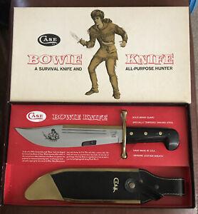 CASE XX USA 1836 Davie Crockett,Scabbard With Brass Survival Bowie Knife NIB.