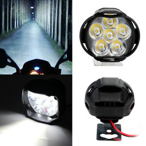 Motorcycle 15W 12V 6LED 1500LM Headlight Headlamp Bulb Fog Light For Car E-bike