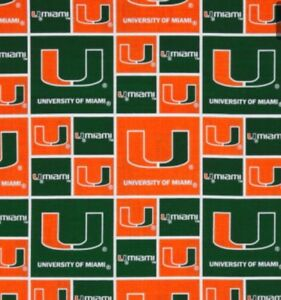 of Miami Hurricanes Jersey Window Valance NEW Univ
