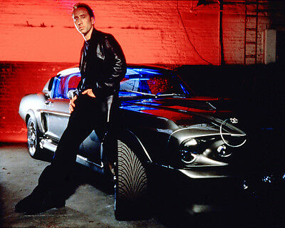 NICOLAS CAGE GONE IN SIXTY SECONDS POSE BY CAR PHOTO