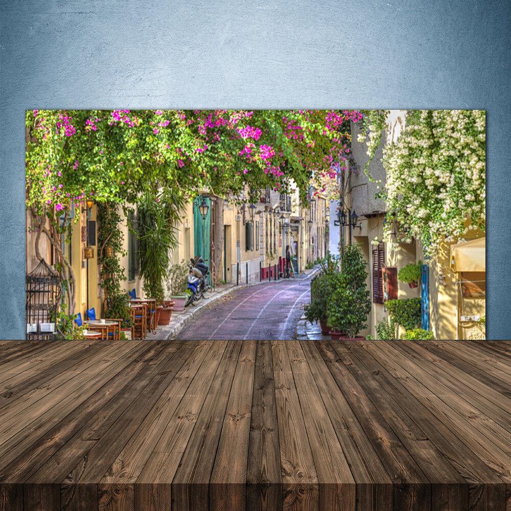 Crédence de cuisine en verre Panneau 140x70 Floral Ruelle Maisons