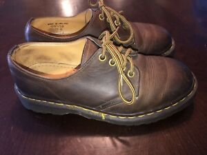 dr doc martens england brown leather oxfords womens size 6