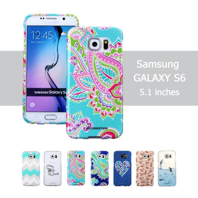 Samsung Galaxy S6 S7 Case Edge Silicone Bumper Gel Cover Pattern TPU Cute Skin