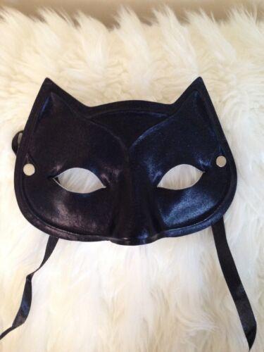 BLACK Cat supereroi CATWOMAN Masquerade Ball DOMINO MASK FANCY DRESS ACCESSORIO