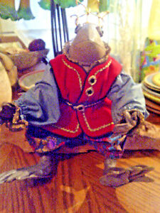 """Other Artist Plush Bears Beaver Valley Handmade Leather Frog Prince """"lazarus"""" Kaylee Nilan Signed/#16/50 Skillful Manufacture Bears"""