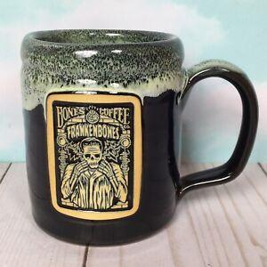 Bones-Coffee-Company-Deneen-Pottery-Mug-2020-FRANKENBONES-Frankenstein-Halloween
