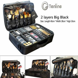 Pro-Large-Makeup-Bag-Cosmetic-Case-Storage-Handle-Organizer-Artist-Travel-Kit