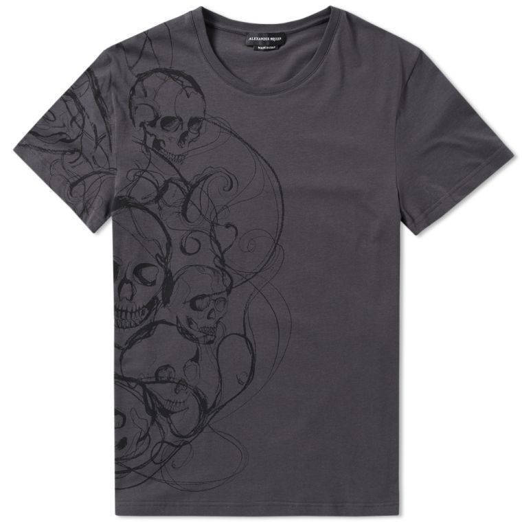 Alexander McQueen Skull Print T-Shirt - Grey - REDUCED TO CLEAR