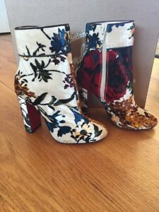 best sneakers 34eea 01696 Details about New Christian Louboutin Moulamax 100 Velvet Floral Bootie  Ankle Boot 34.5 4.5