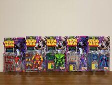 "TOY BIZ 5""IN ""IRON MAN"" LOT OF 5 MARVEL COMICS 1995  Hulk Buster Hawkeye"