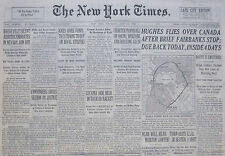 7-1938 July 14 HOWARD HUGHES FLIES OVER CANADA AFTER BRIEF FAIRBANKS STOP DUE