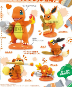 Pokemon-Mini-Figure-Set-034-Palette-Color-Collection-Orange-034-Japan