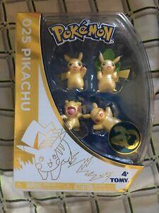 Pokemon-20th-Anniversary-Figurines-Pikachu-025-Poses-4-Piece-Set-Limited-Edition