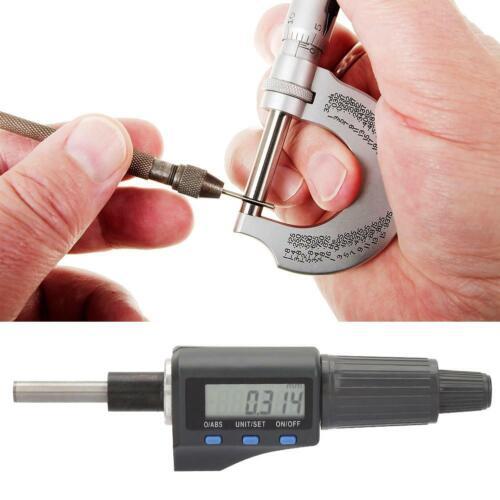 0.001mm Digital Micrometer Head Electronic LCD display Inch mm Metric 0-25mm
