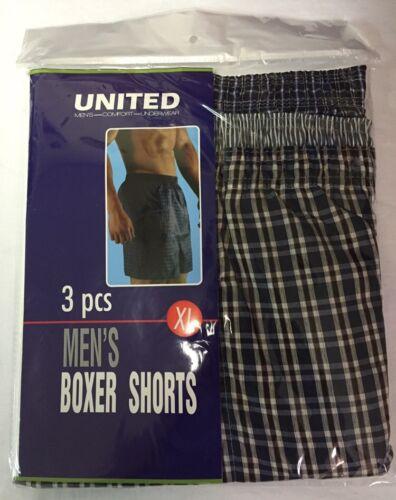 BOXER SHORTS UNITED UNDERWEAR COMFORTABLE MEN/'S 5 COLORS BEST SELLER SIZES S-5XL