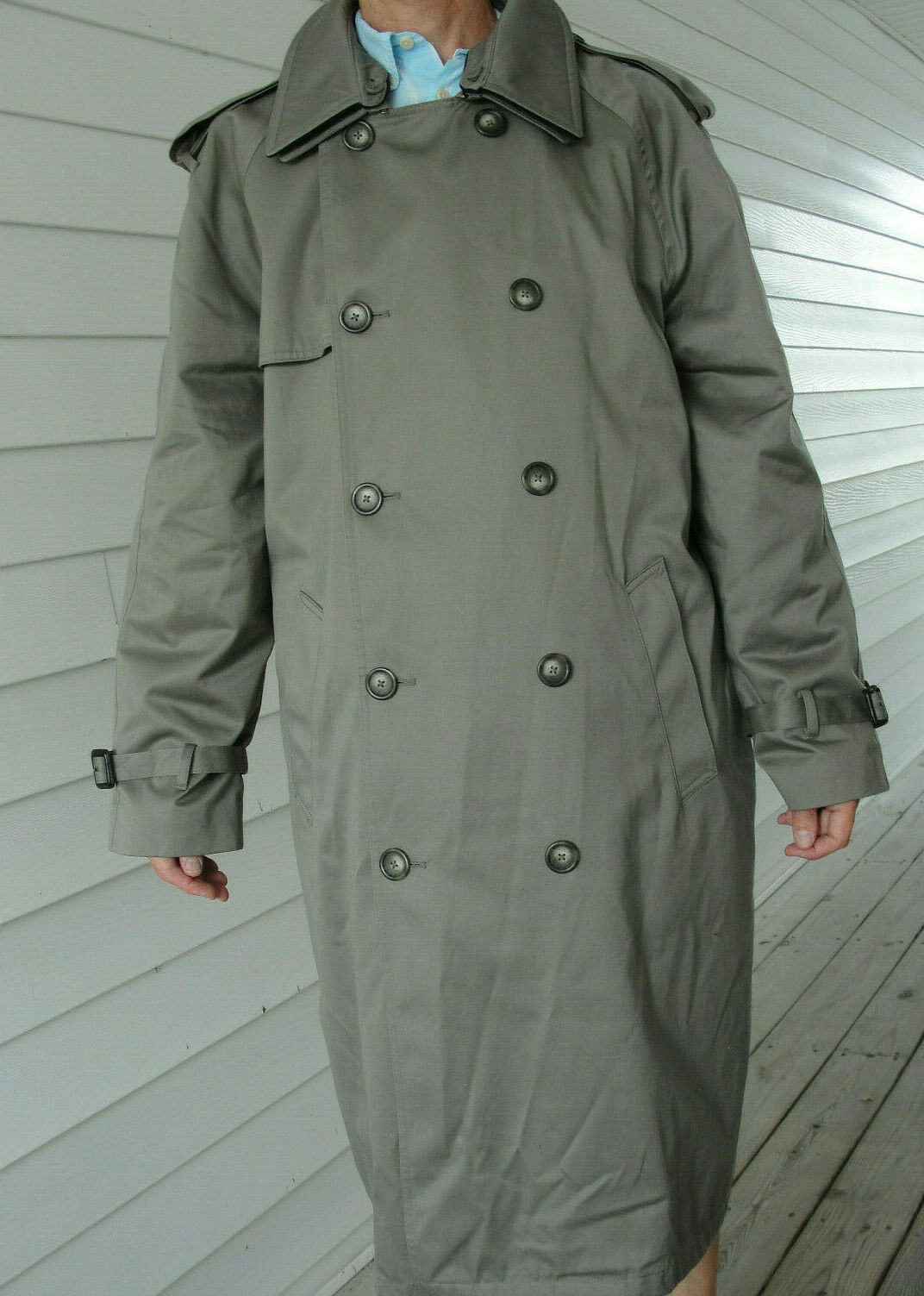 Ralph Lauren Trench coat Olive green Lined Size 4… - image 2