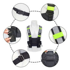 Radio Chest Harness Bag Pouch Holster Vest Rig