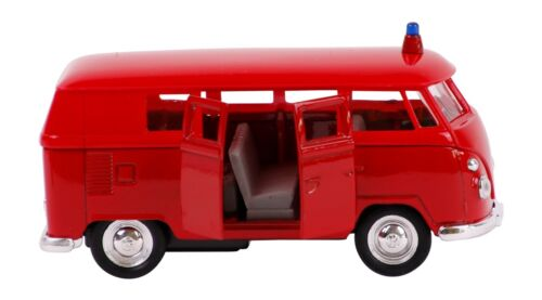 VOLKSWAGEN Bus T1 1963 Polizei Feuerwehr VW Modell Modellauto Spielzeugauto 28