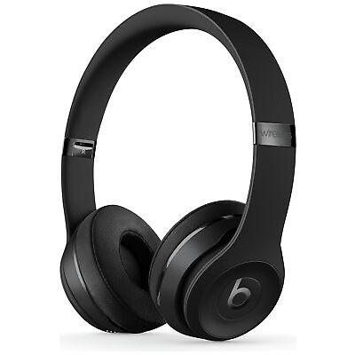 Beats by Dre Solo3 On-Ear Bluetooth Wireless Adjustable Headphones - Black.