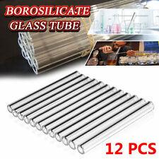 12pcs 8mm Od Pyrex Glass Tubes Borosilicate Glass Blowing Tubing Clear 12 Long