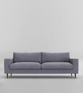 Swoon Evesham Stylish Anthracite Grey Smart Wool Three Seater Sofa - RRP £1219
