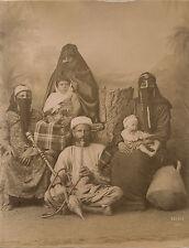 EGYPTE Famille Egyptienne Arabe Photo Arnoux Albumine Vintage albumen ca 1875
