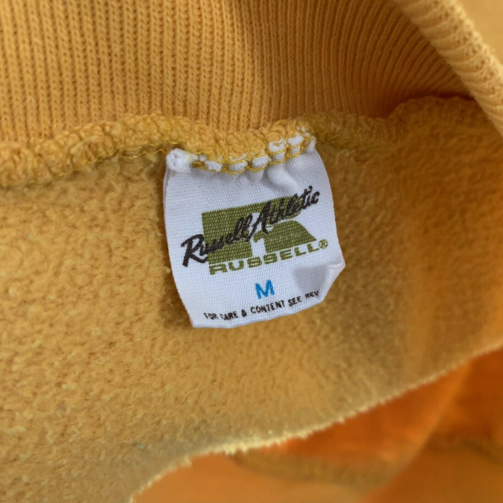 Vintage 70s Hoodie Sweatshirt Junior Olympics Rus… - image 3
