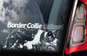 Border-Collie-on-Board-Car-Window-Sticker-Sheepdog-Dog-Sign-Decal-Gift-V02