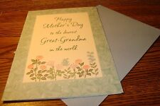 MOTHERS DAY CARD * Happy Mothers Day to Dearest Great-Grandma in the World   c31