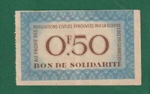 FRANCE - VICHY Régime - Bon De SOLIDARITÉ 1941 50 Centimes - XF Scarce - LOOK!!