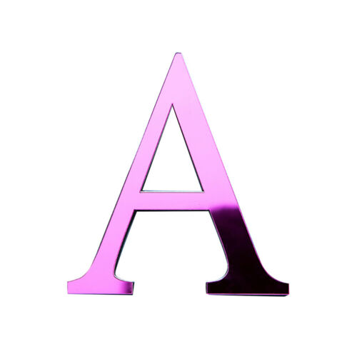 A-Z ALPHABET LETTER ACRYLIC MIRROR WALL ART STICKER DECAL DIY HOME DECOR FUNNY