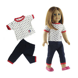 Doll Clothes Casual Wear Suit Shirt Pants Outfit Fits 18 American Girl Doll Ebay