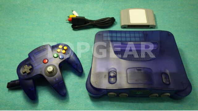 Nintendo 64 console system + N64 controller Midnight Blue / TESTED