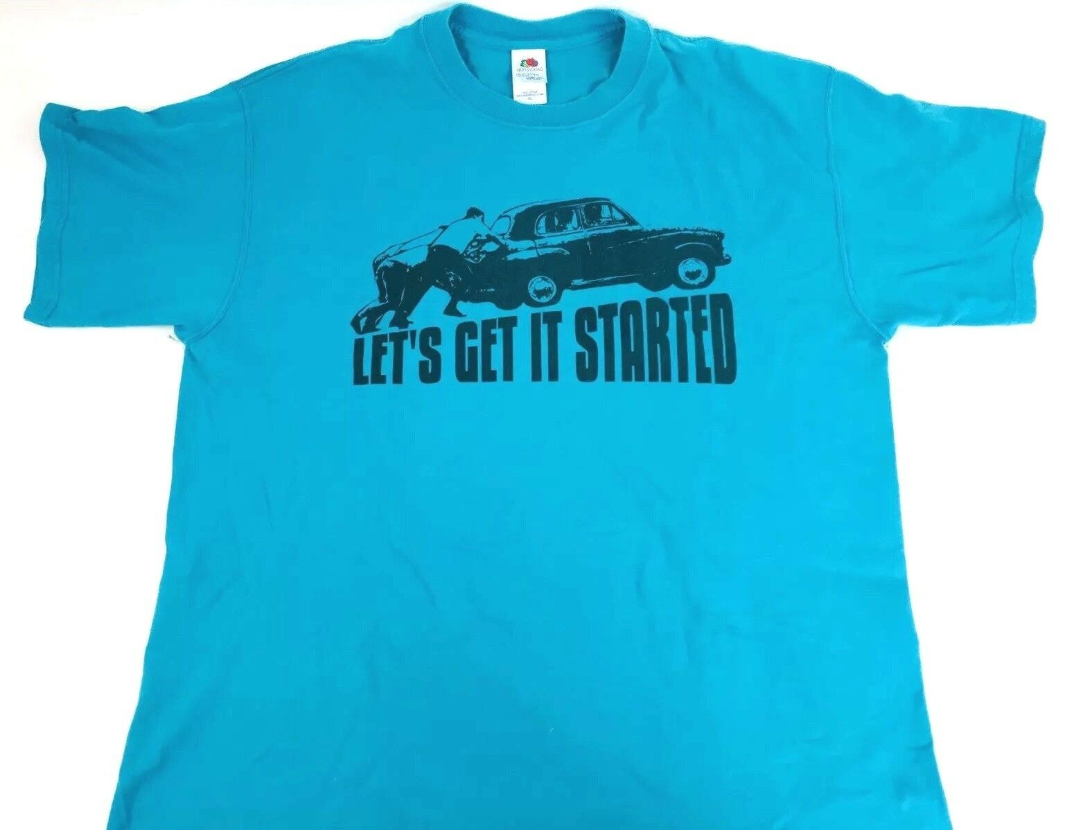 Let's Get It Started shirt 90s tee Blau tee XL