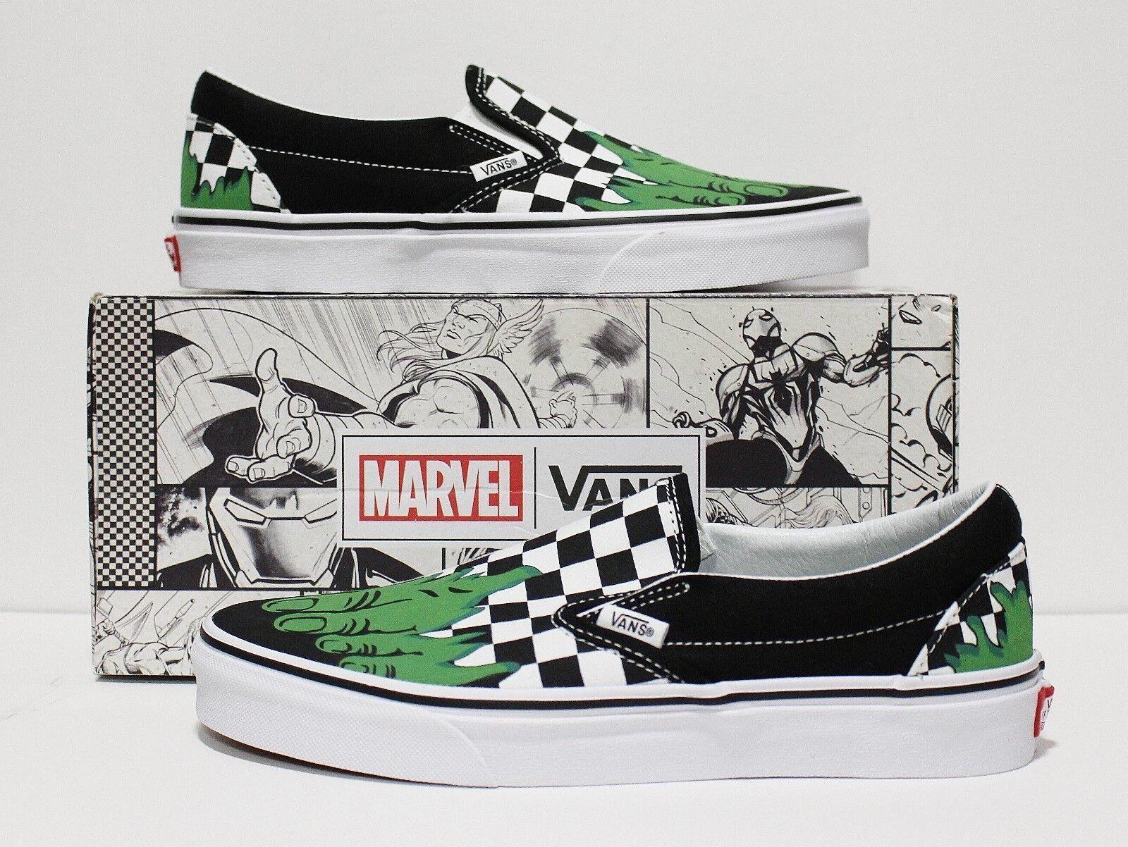 Vans Marvel Clásico Slip On Hulk X Checkerboard para hombres (10) para mujer
