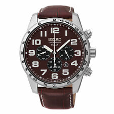 New Seiko Men's SSC227 Sports Solar Analog Display Japanese Quartz Brown Watch