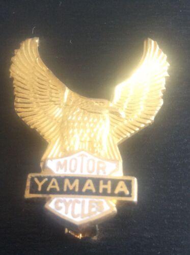 Rare Vintage Enamel Motorcycle Lapel Pin Badge YAMAHA Wings Motorcycling 1970s