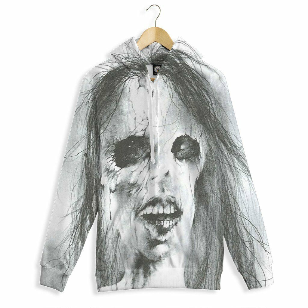 NEW Beloved Shirts SCARY GIRL HOODIE SMALL-3XLARGE CUSTOM MADE IN THE USA SKULL