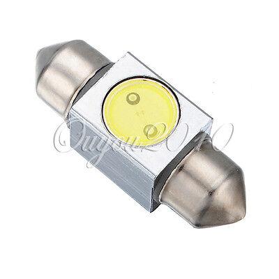 31mm High Power 1W LED SMD Festoon Dome Car Light Bulb Lamps 3243 6418 White 12V