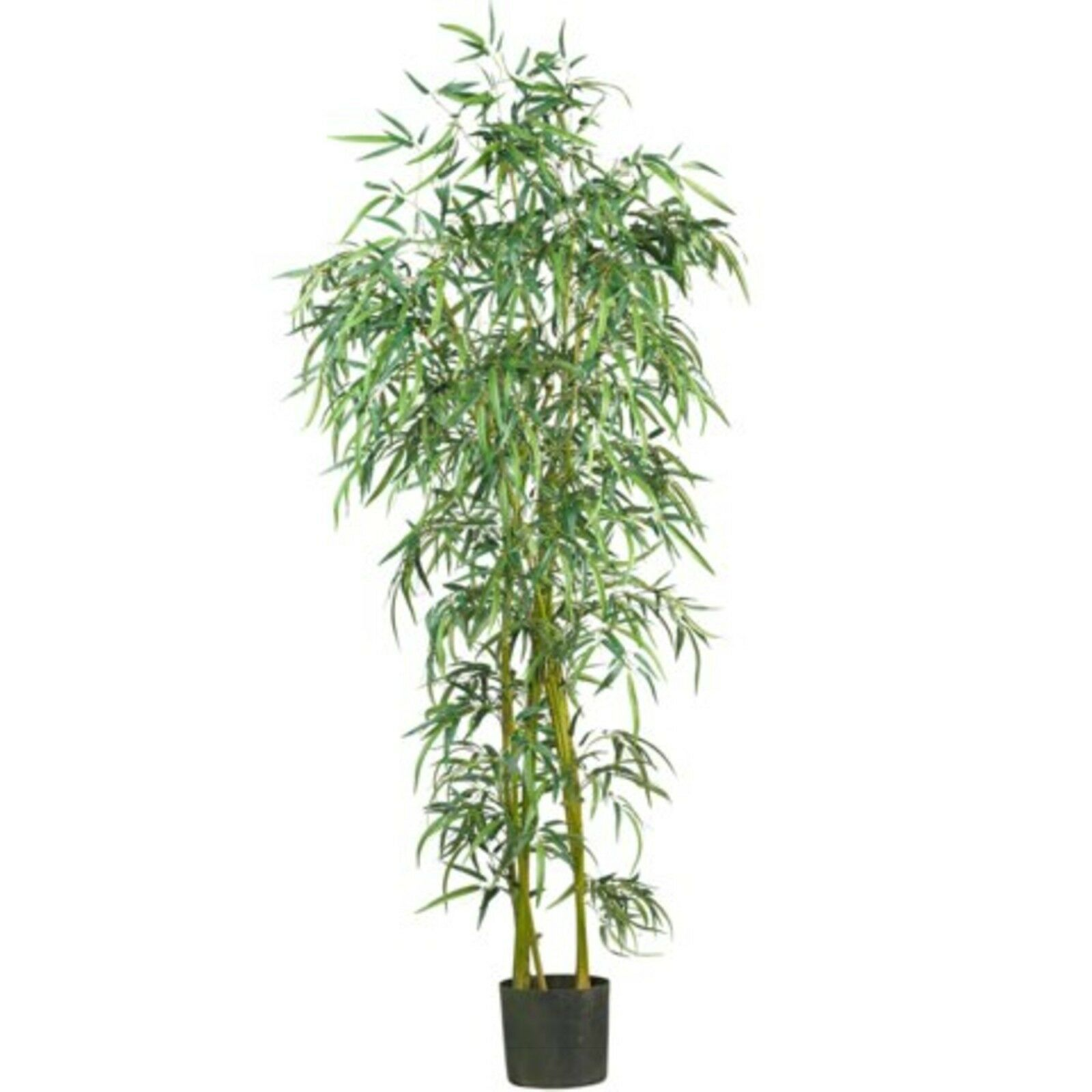 Decorative Natural Looking Artificial 6' Fancy Asian Slim Bamboo Silk Tree Plant