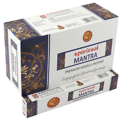 Satya Mantram Incense Sticks Agarbatti 180 Grams Box Export Quality 12 Packs of 15 Grams in a Box