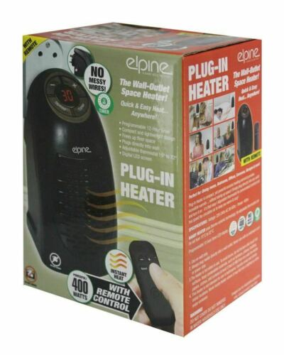 Low Wattage 400W Portable Remote Controlled Mini Heater Wall Plug Space Heater
