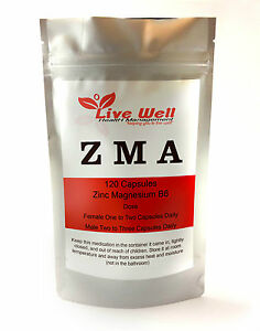 Live-Well-all-natural-ZMA-Capsules-Zinc-Magnesium-amp-Vitamin-B6-Free-UK-delivery