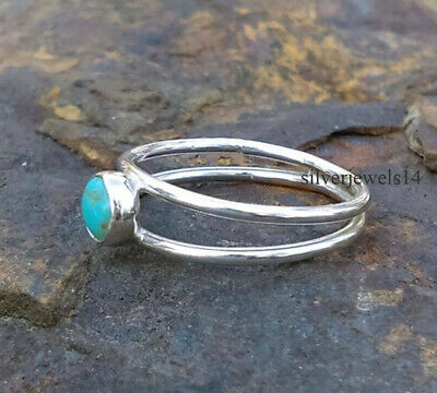 Turquoise Solid 925 Sterling Silver Ring Handmade Jewelry vc910